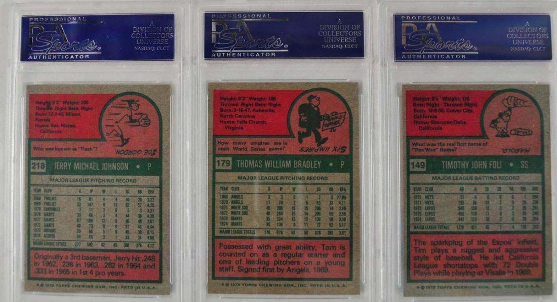 15 1975 Topps baseball Cards PSA Graded Mint 9 - 10