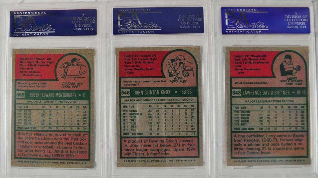 15 1975 Topps baseball Cards PSA Graded Mint 9 - 2