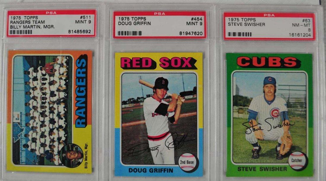 15 1975 Topps baseball Cards PSA Graded Mint 9 - 3