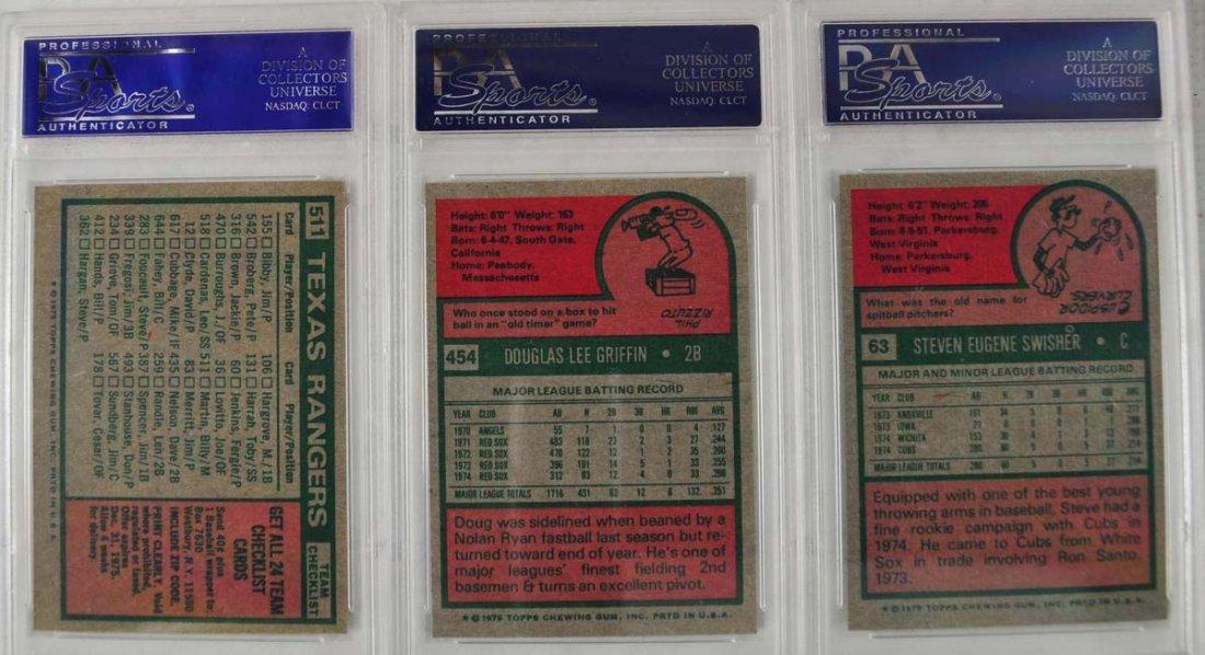 15 1975 Topps baseball Cards PSA Graded Mint 9 - 4