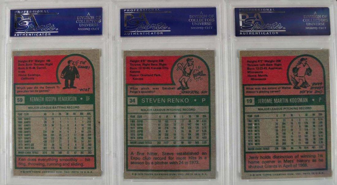 15 1975 Topps baseball Cards PSA Graded Mint 9 - 6