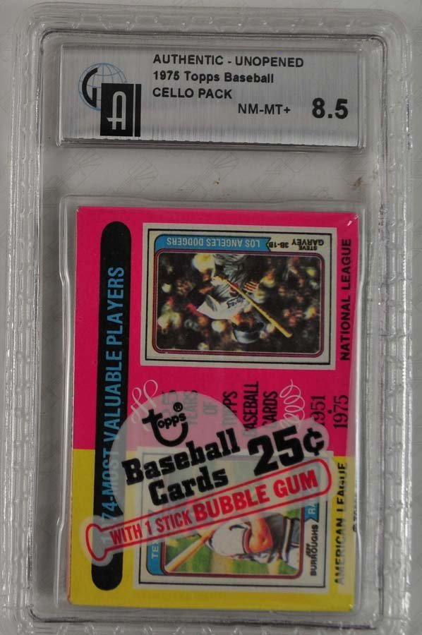 1975 Topps Cello Pack Graded GAI 8.5