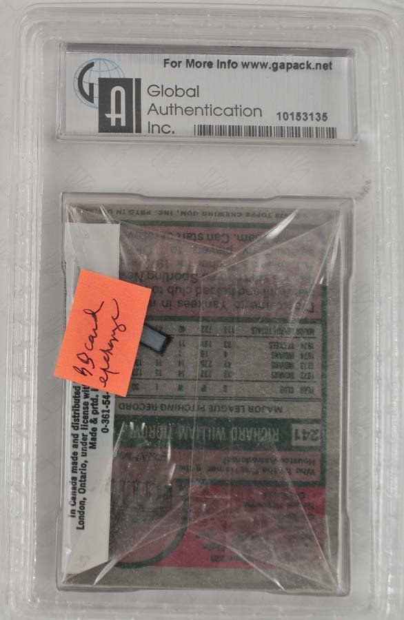 1975 Topps Cello Pack Graded GAI 8.5 - 2