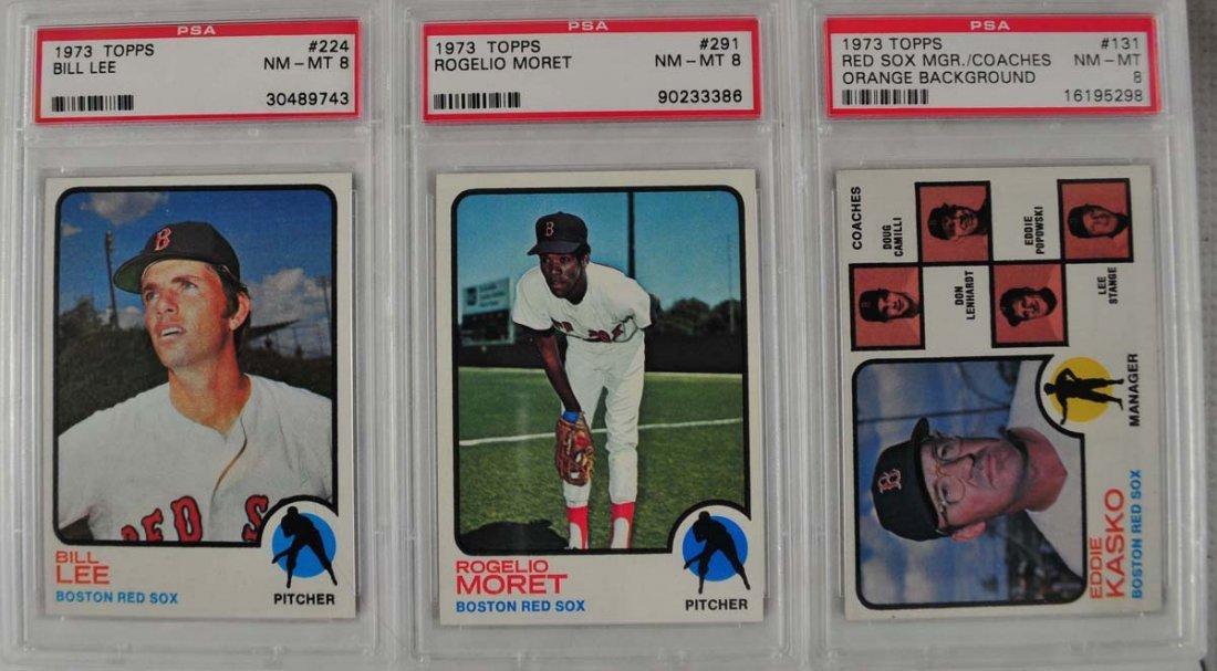 18 1973 Topps Baseball Cards PSA 8 - 10