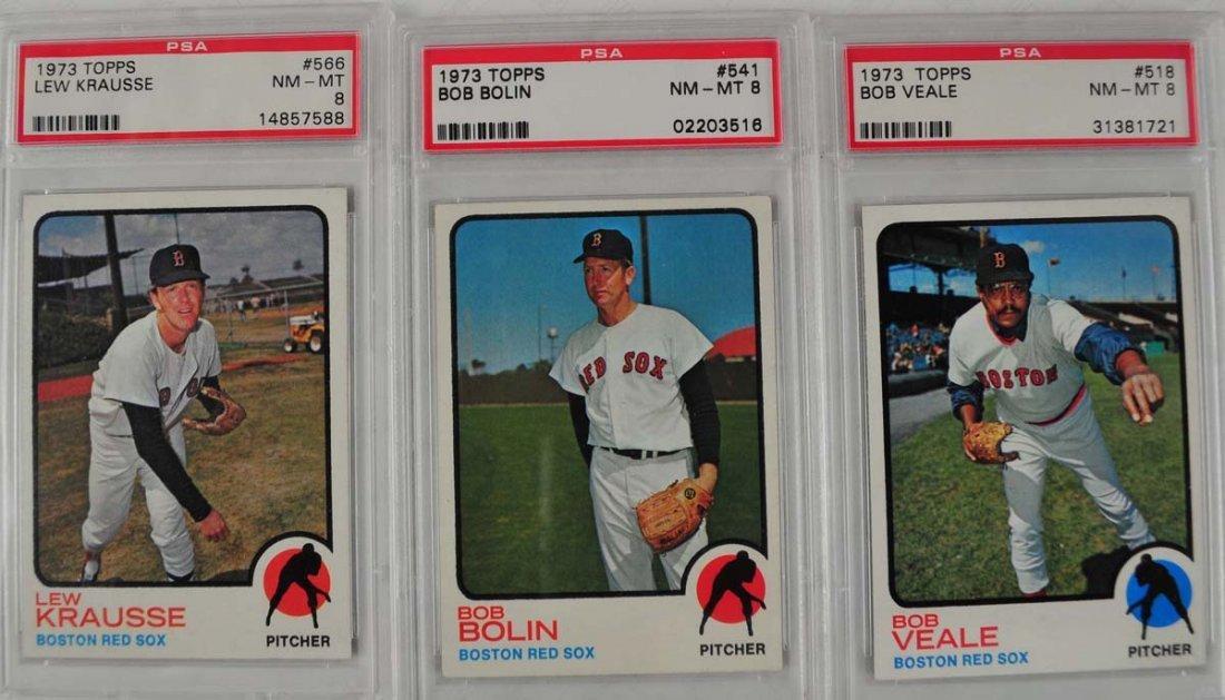 18 1973 Topps Baseball Cards PSA 8