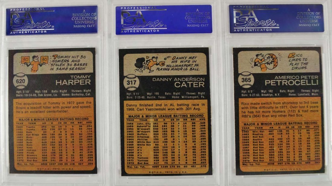18 1973 Topps Baseball Cards PSA 8 - 6