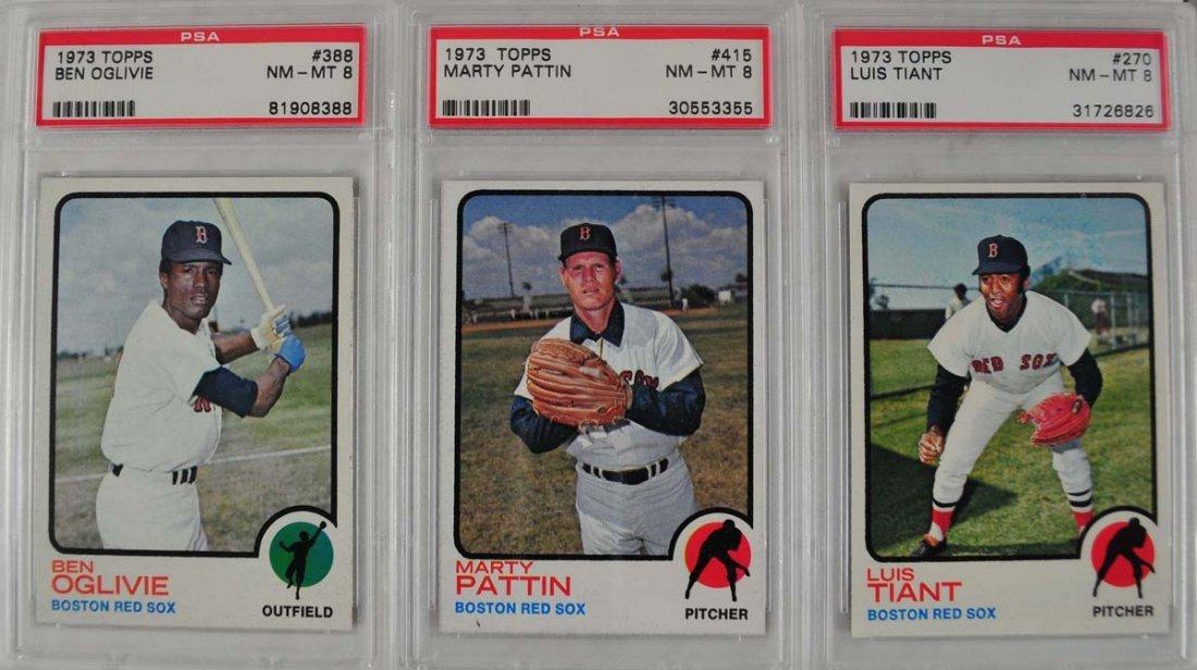 18 1973 Topps Baseball Cards PSA 8 - 7