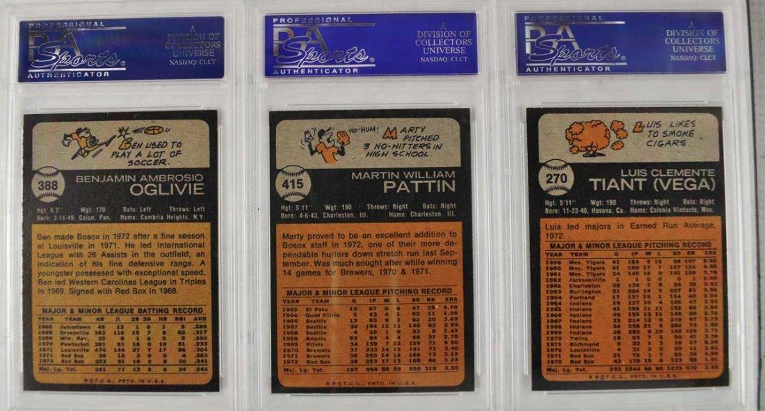 18 1973 Topps Baseball Cards PSA 8 - 9