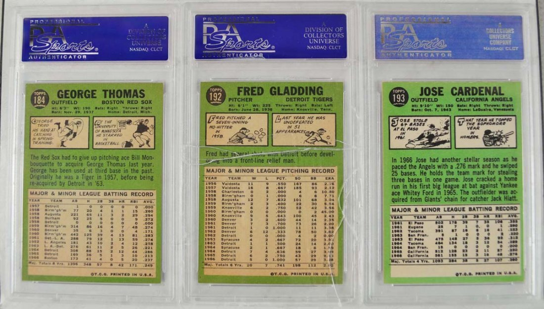 20 1967 Topps Baseball Cards PSA Graded 8 - 10