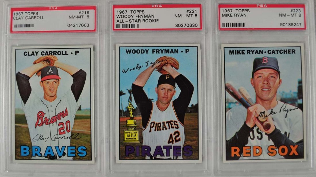20 1967 Topps Baseball Cards PSA Graded 8 - 3