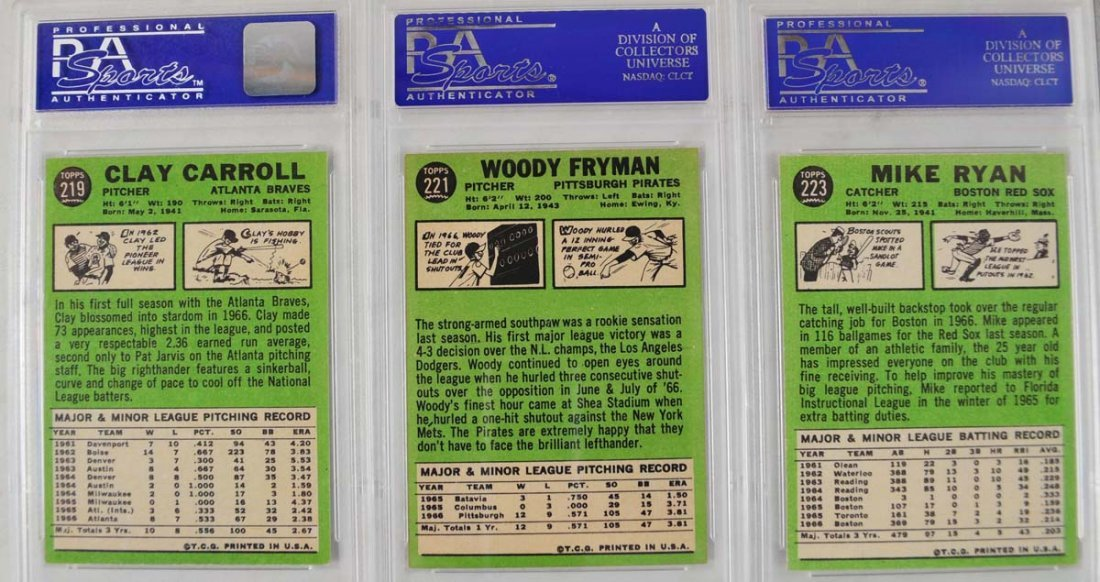 20 1967 Topps Baseball Cards PSA Graded 8 - 4