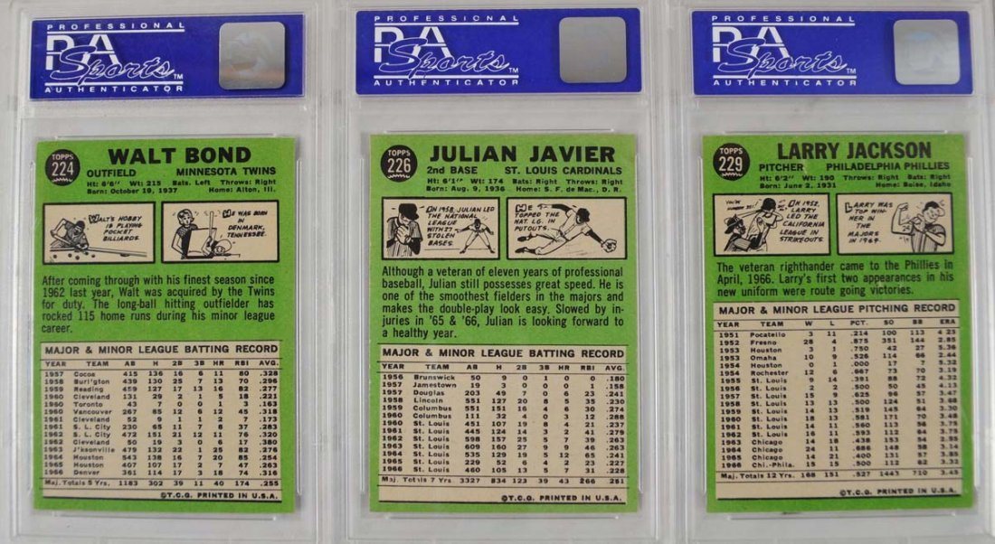 20 1967 Topps Baseball Cards PSA Graded 8 - 6