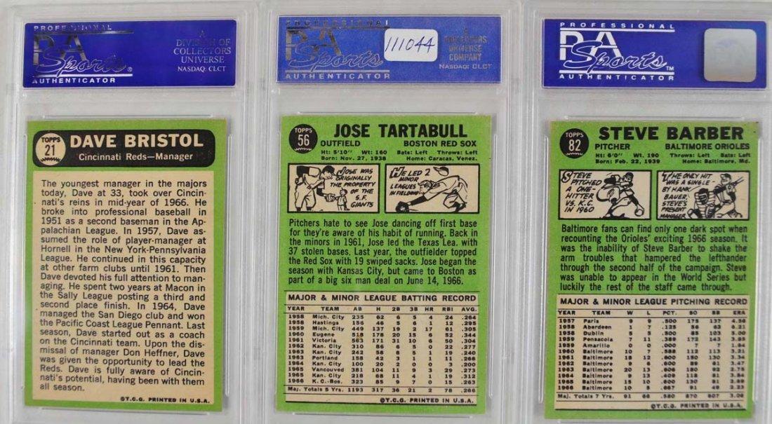 7 1967 Topps Baseball Cards PSA Graded 8 - 4