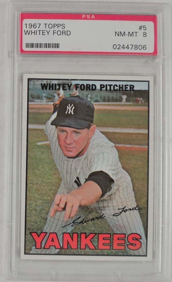 7 1967 Topps Baseball Cards PSA Graded 8 - 5