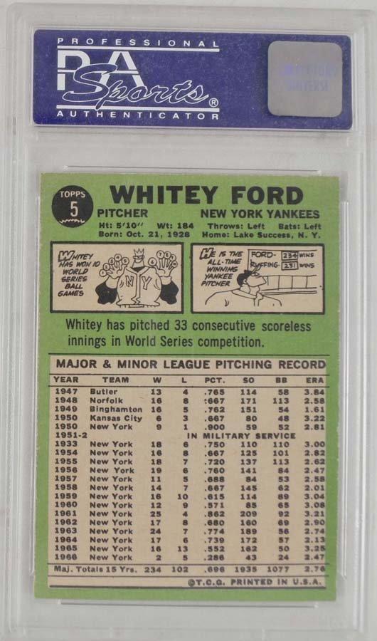 7 1967 Topps Baseball Cards PSA Graded 8 - 6