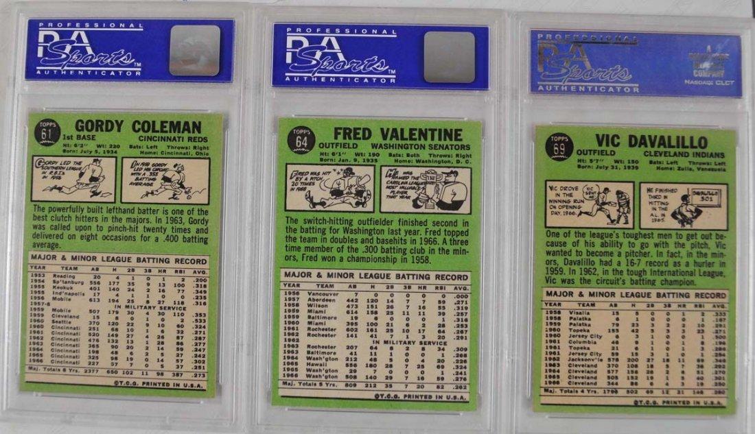 20 1967 Topps Baseball Cards PSA Graded 8 - 2