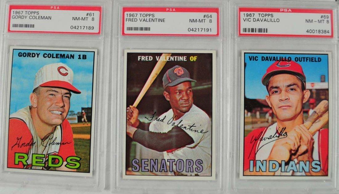 20 1967 Topps Baseball Cards PSA Graded 8 - 3