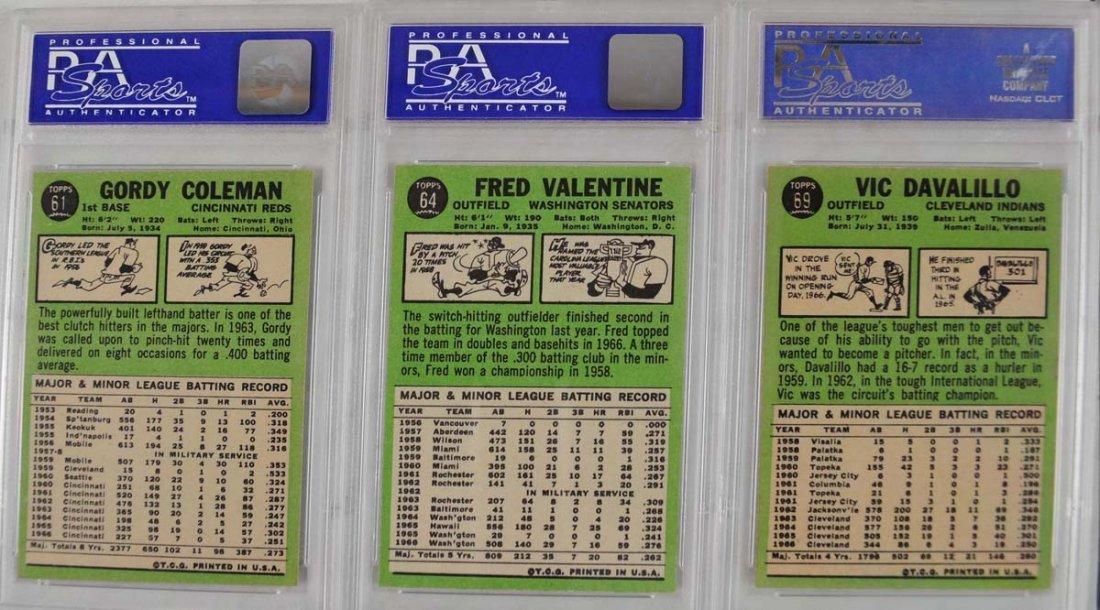 20 1967 Topps Baseball Cards PSA Graded 8 - 4