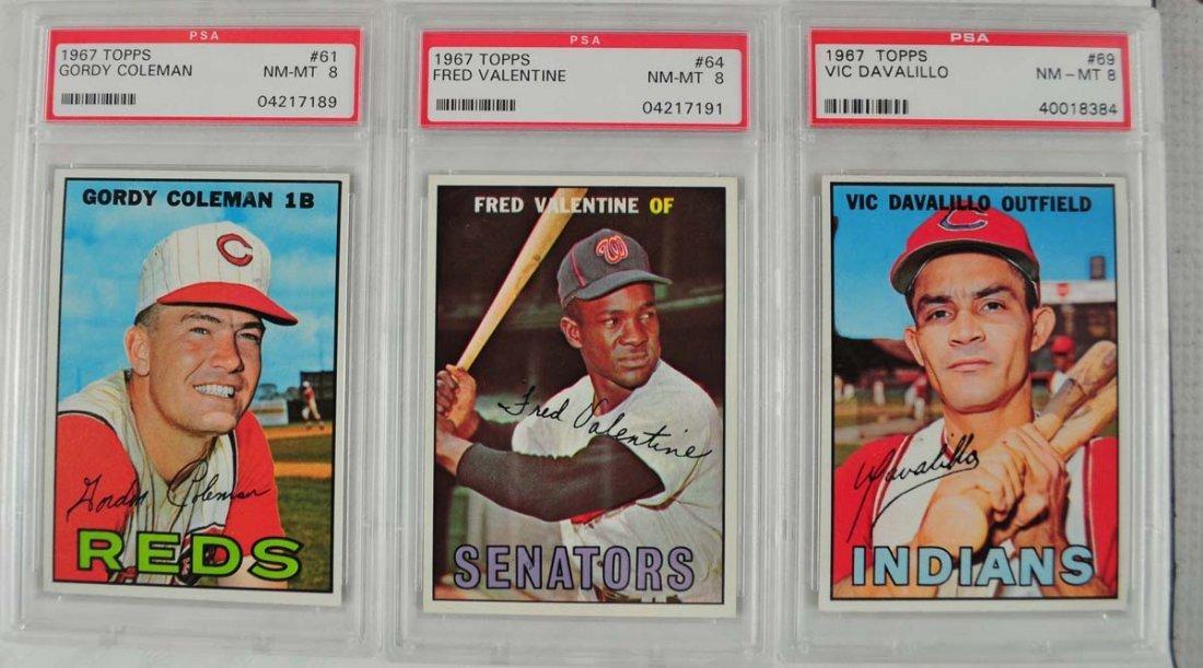 20 1967 Topps Baseball Cards PSA Graded 8 - 5