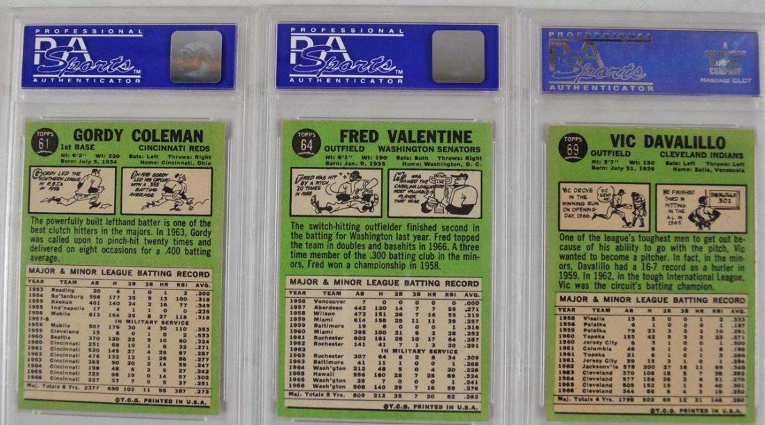 20 1967 Topps Baseball Cards PSA Graded 8 - 6
