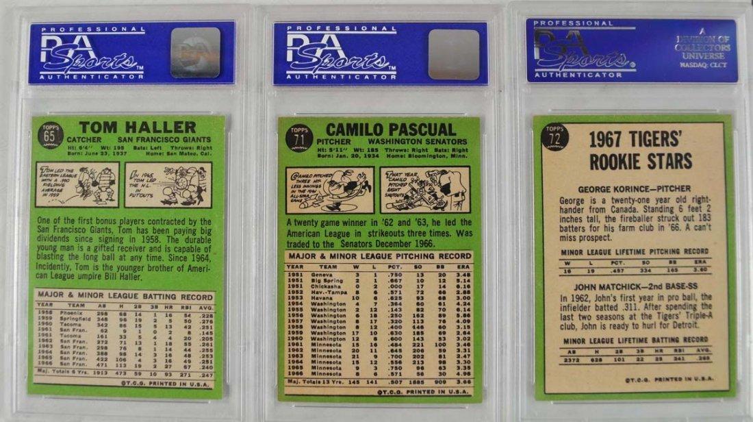 20 1967 Topps Baseball Cards PSA Graded 8 - 8