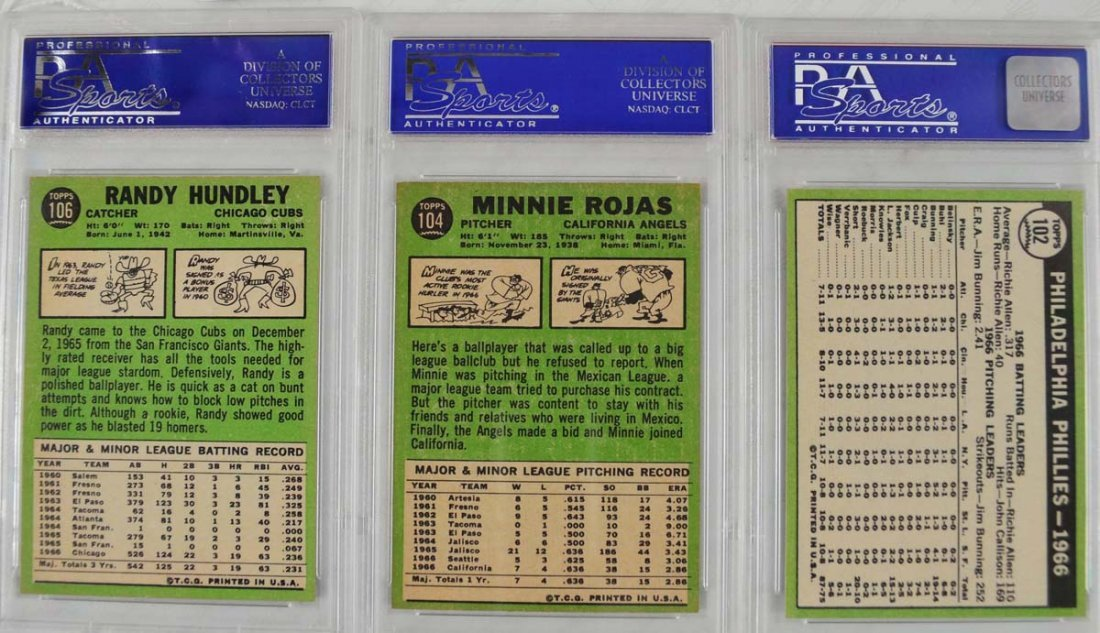 20 1967 Topps baseball Cards PSA Graded 8 - 2