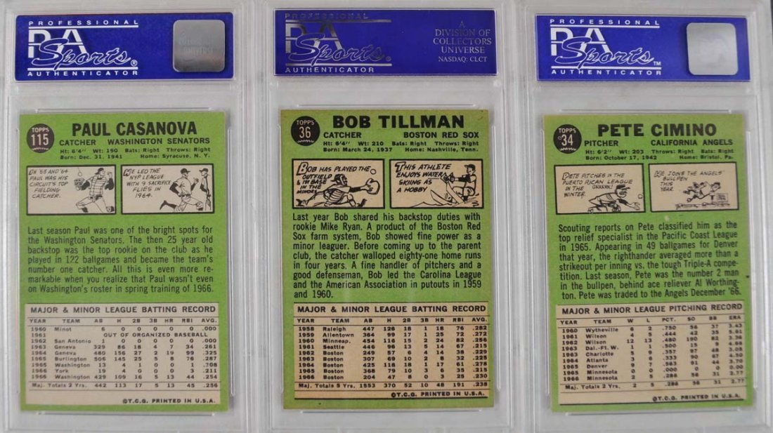 20 1967 Topps baseball Cards PSA Graded 8 - 8