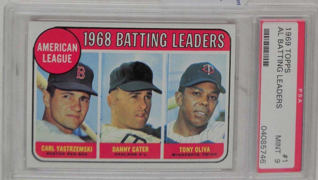 1969 Topps Baseball Card PSA Graded Mint 9