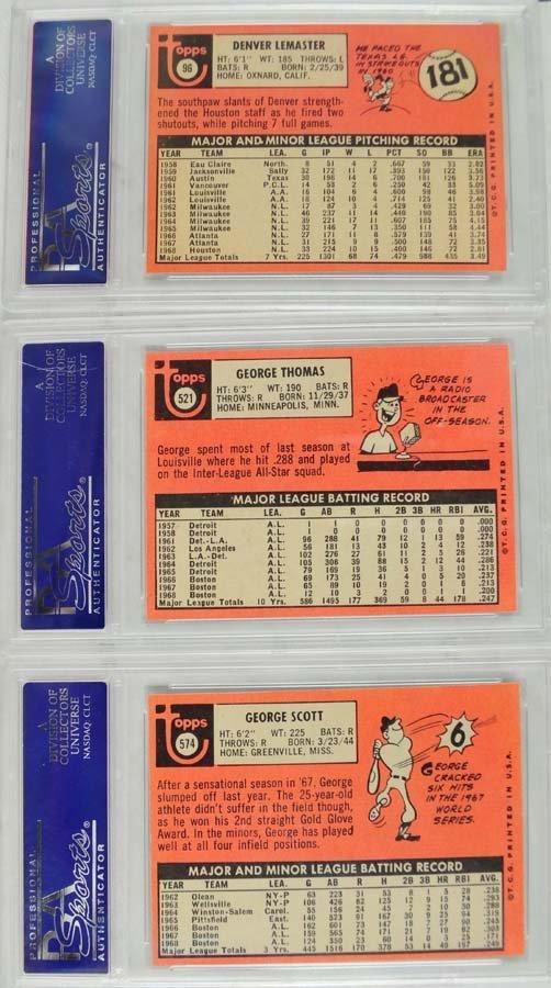 12 1969 Topps Baseball Cards PSA Graded Mint 9 - 2