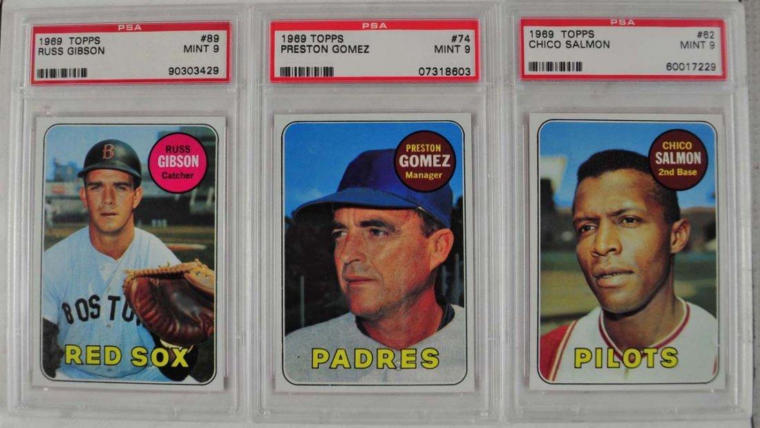12 1969 Topps Baseball Cards PSA Graded Mint 9 - 3