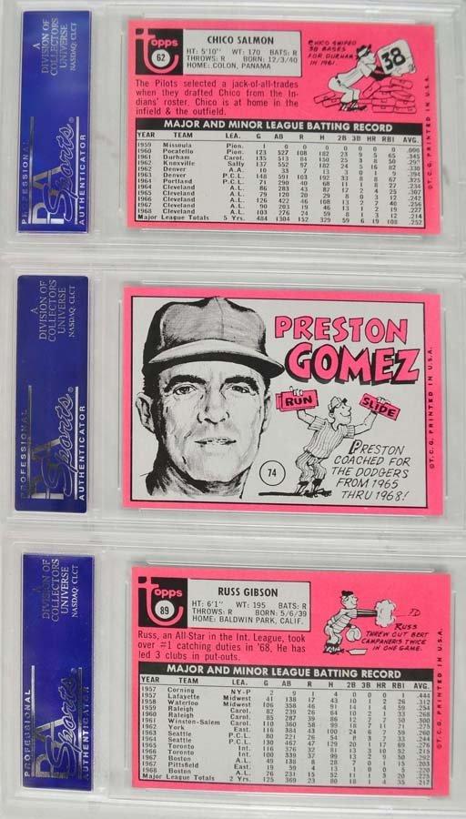 12 1969 Topps Baseball Cards PSA Graded Mint 9 - 4