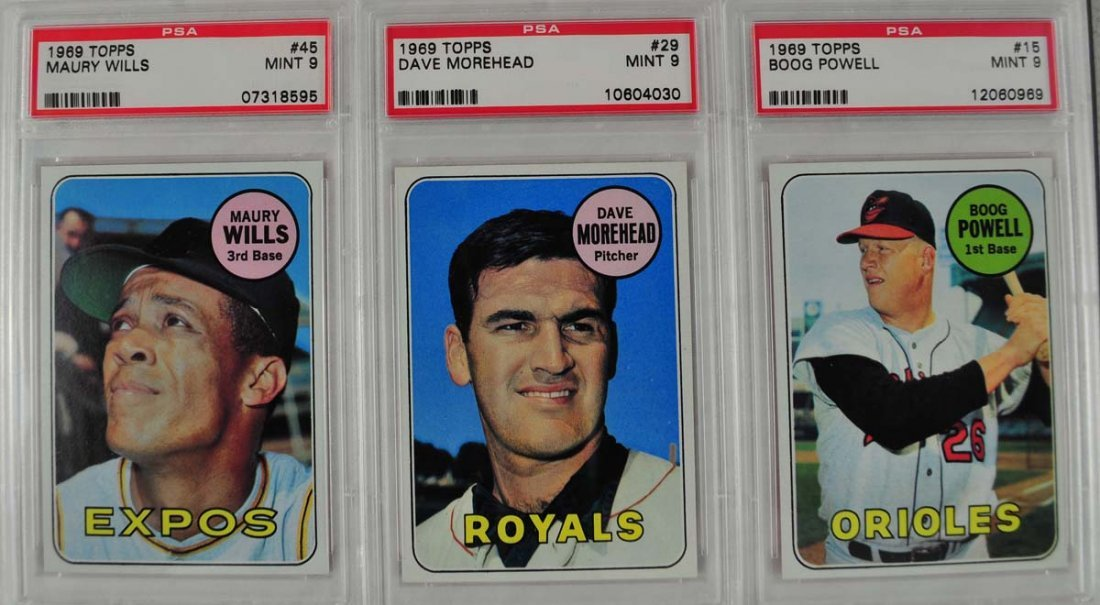 12 1969 Topps Baseball Cards PSA Graded Mint 9 - 5