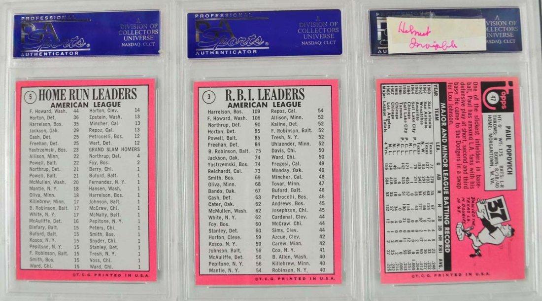 12 1969 Topps Baseball Cards PSA Graded Mint 9 - 8