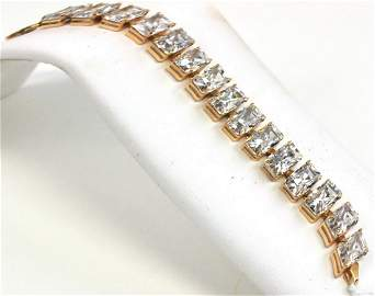 10 Kt. Ladies Cubic Zirconia Bracelet