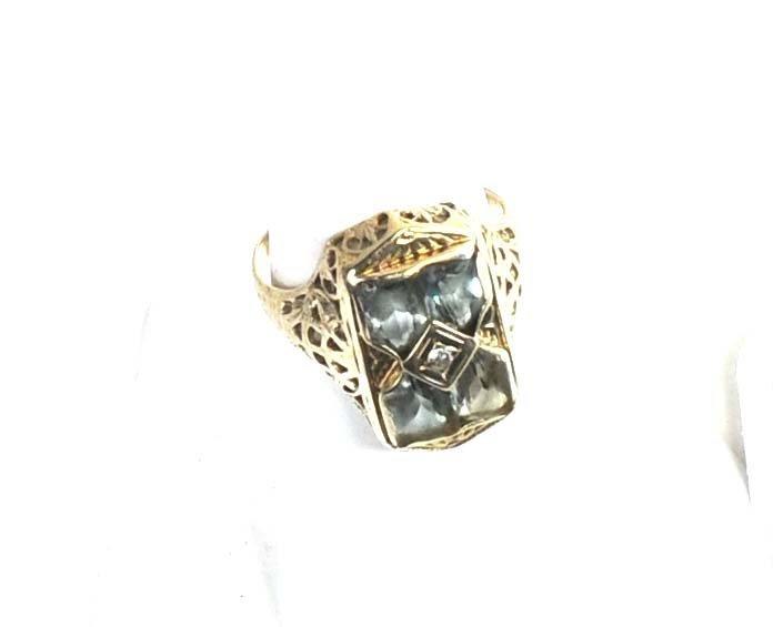 14Kt. White Gold Ladies Ring 3 Grams