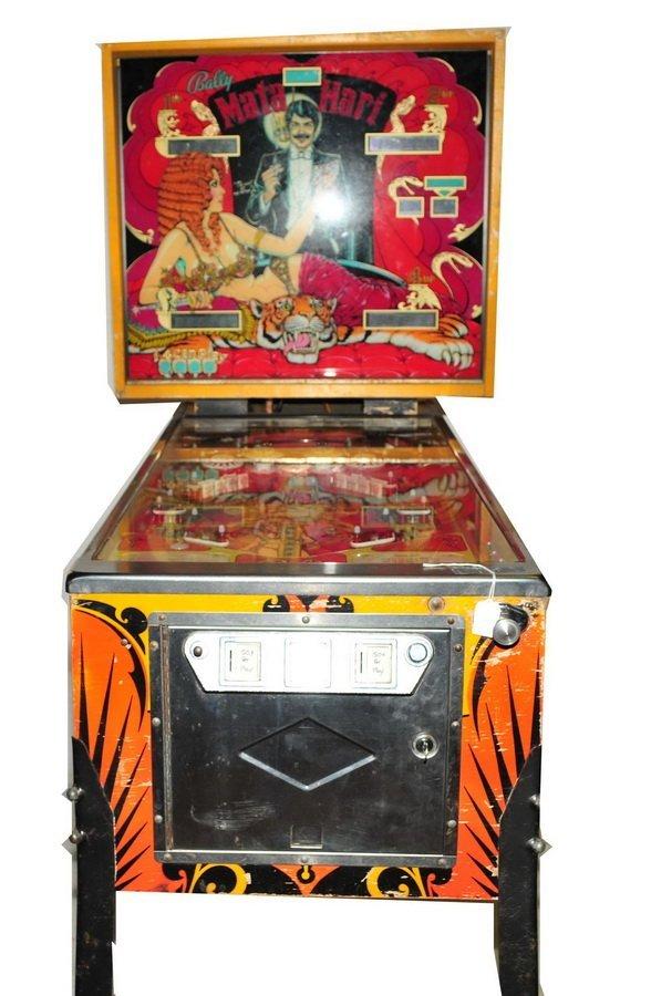 Bally Mata  Hari Pinball Game 1978