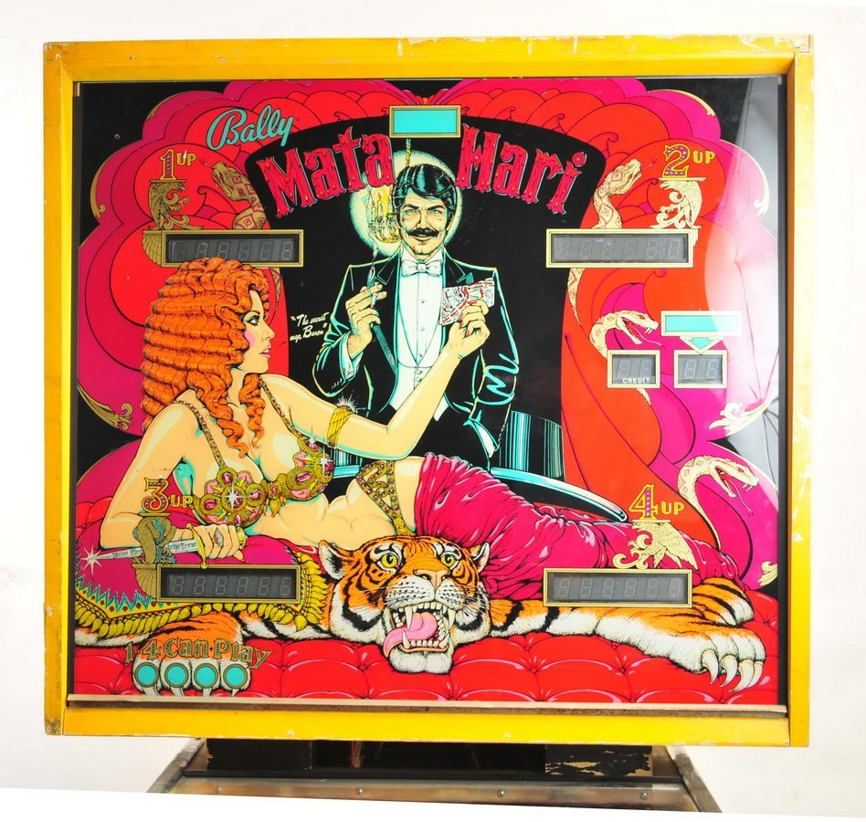 Bally Mata  Hari Pinball Game 1978 - 3