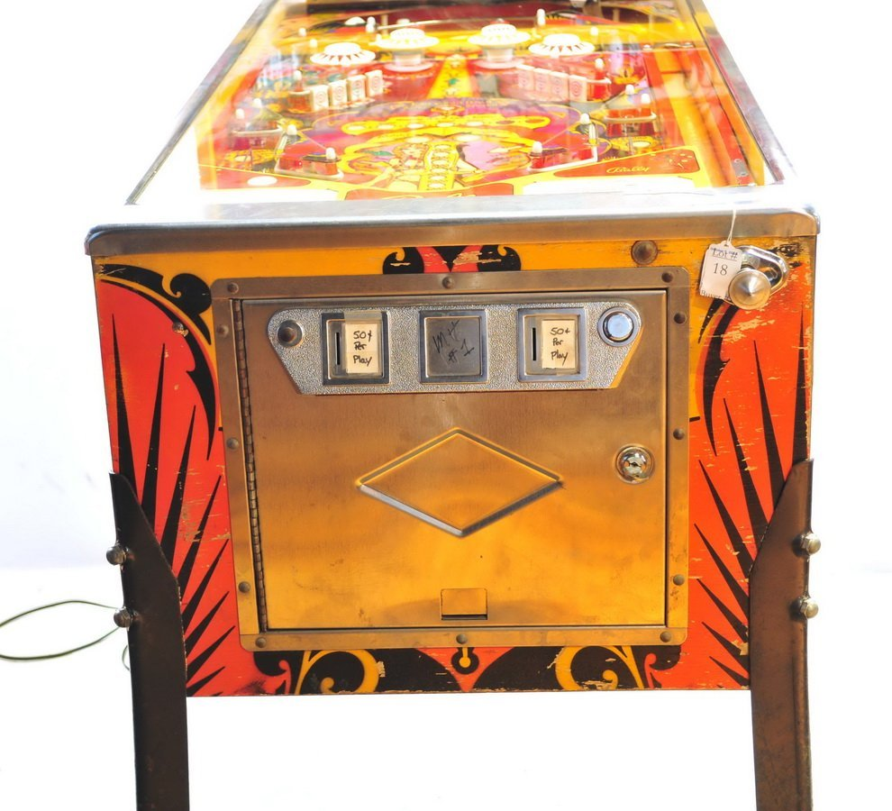 Bally Mata  Hari Pinball Game 1978 - 8