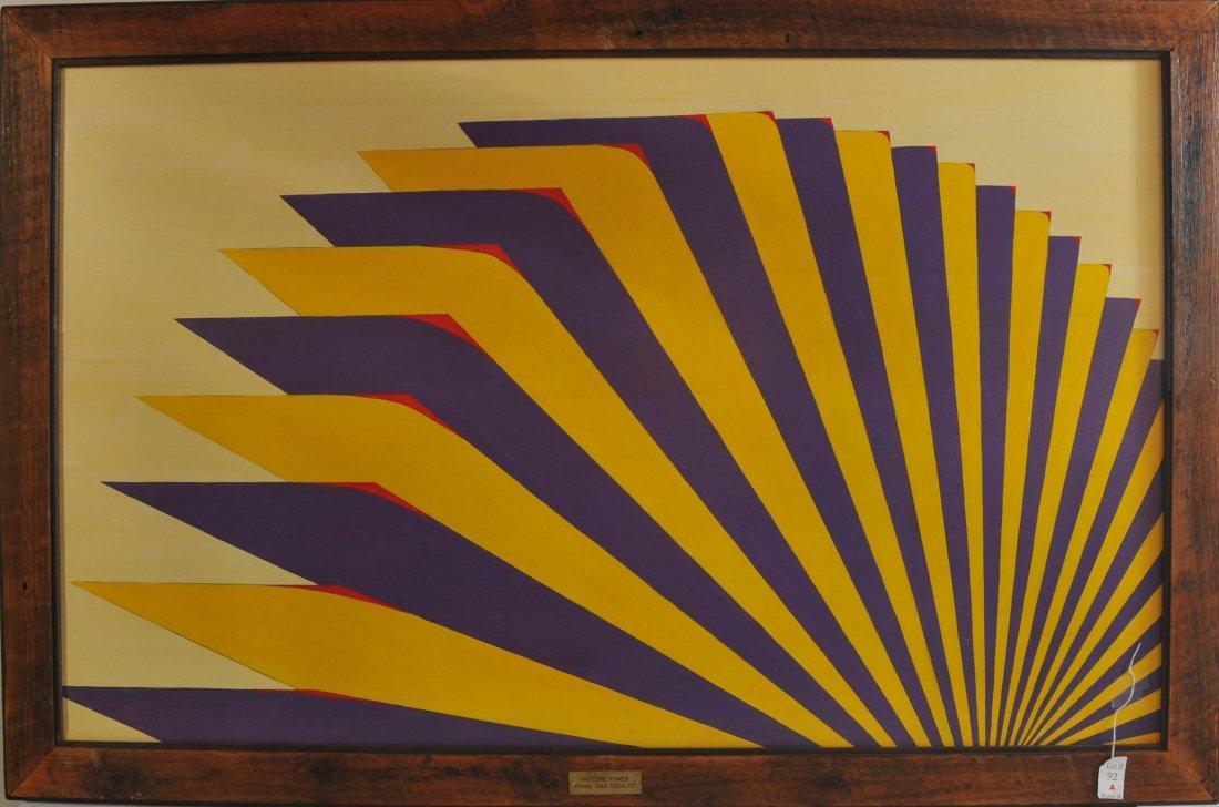 Acrylic on Board 48x30 framed World Tour