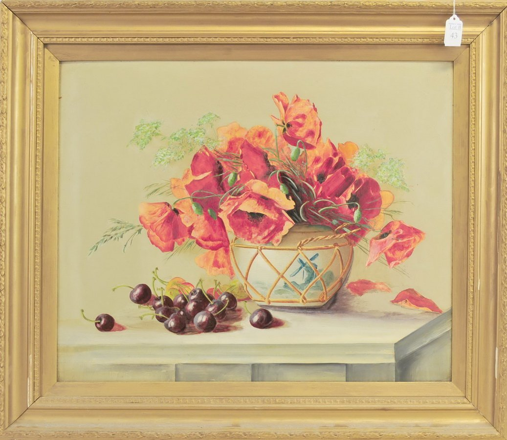 Oil on Board Floral Still Life Unsigned