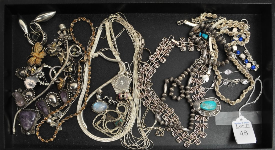 Sterling Silver Jewelry lot 11.4 OZT