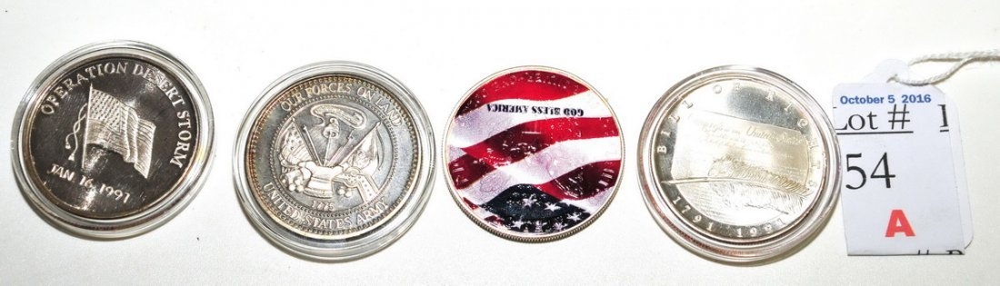 4-Silver 1 OZT Coins September 11th, Desert Storms - 2