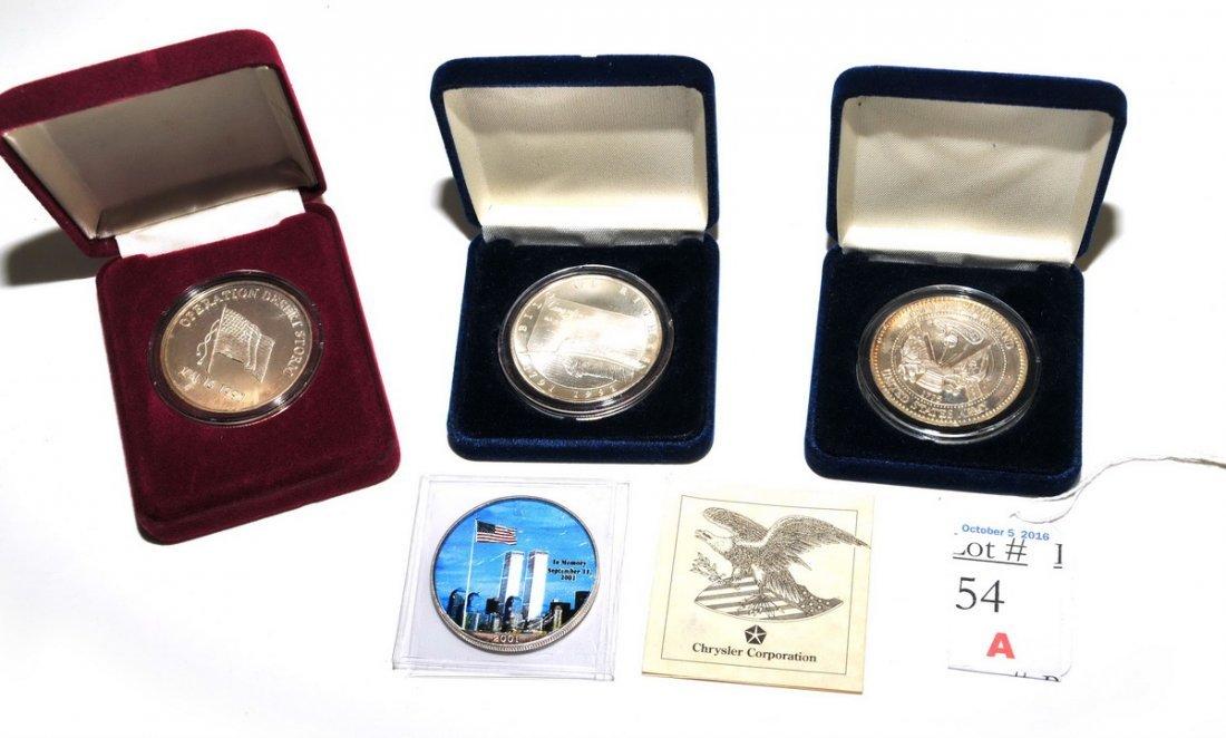 4-Silver 1 OZT Coins September 11th, Desert Storms - 3
