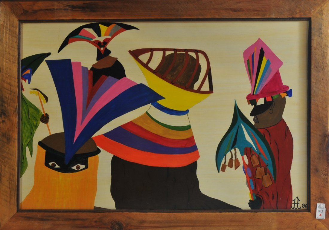 "Acrylic on Board 36x24 framed ""The Healing"" 1990"