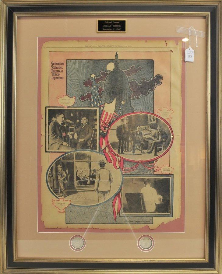 Century Dollar Framed Art piece Collage