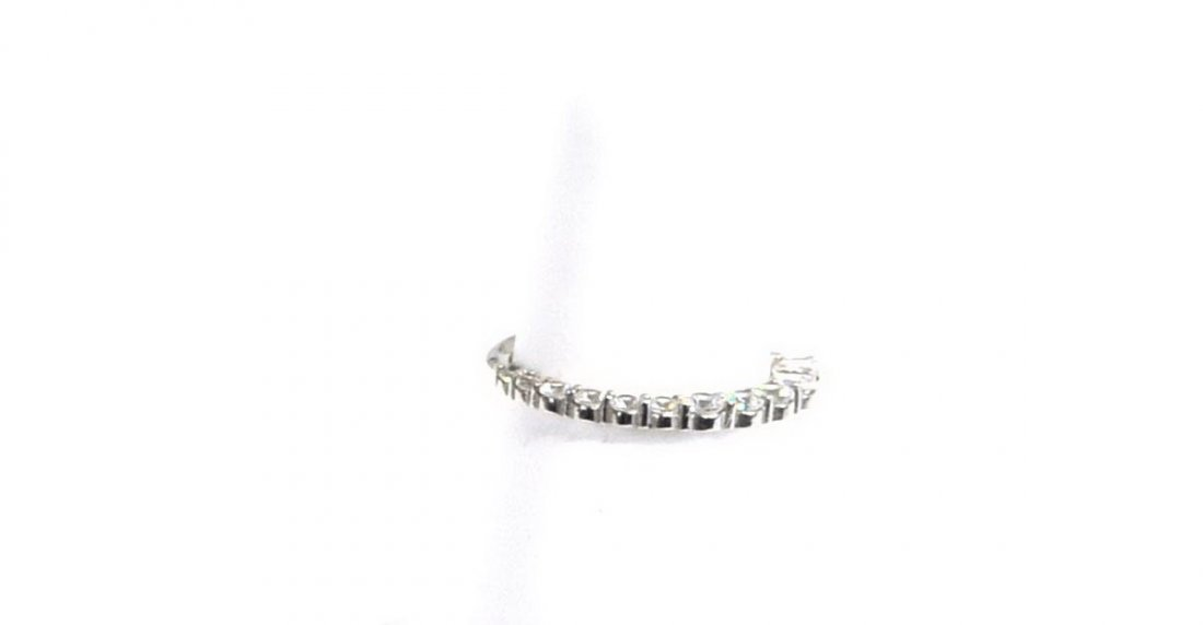 14Kt. Monet White Gold Hoops and Diamond Ring