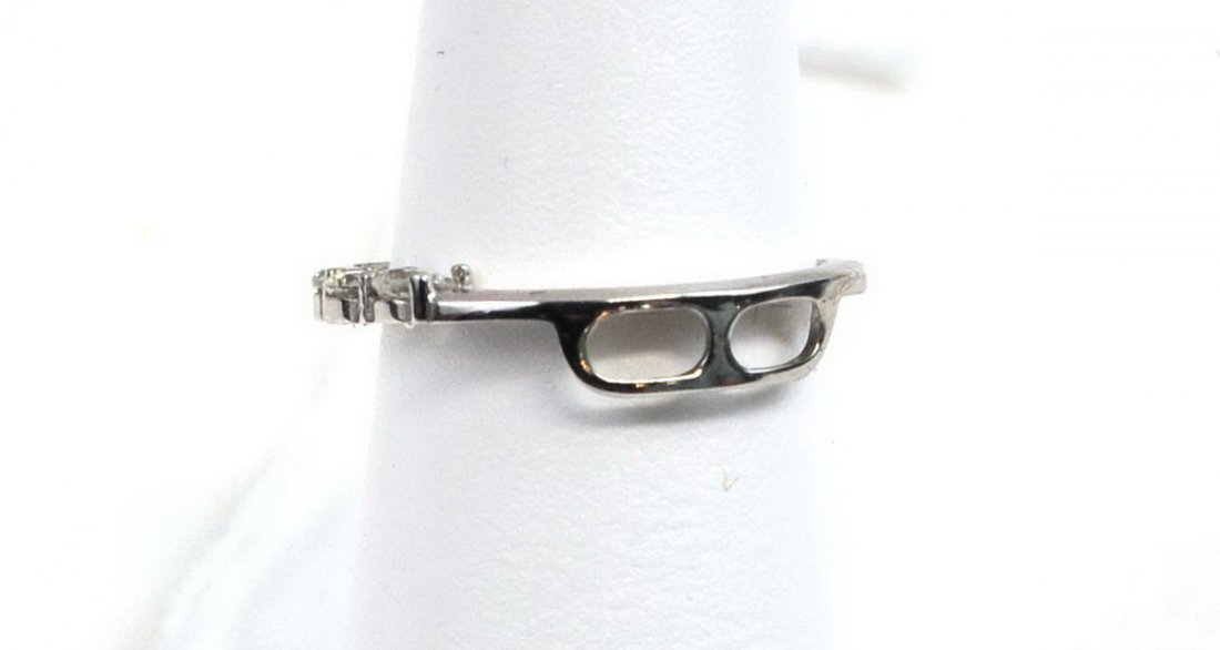 14Kt. Monet White Gold Hoops and Diamond Ring - 3
