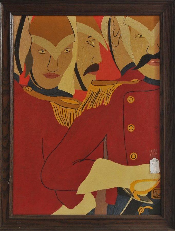"""AOB 18x24 framed """"A Crisis 1870's"""" 1985"""