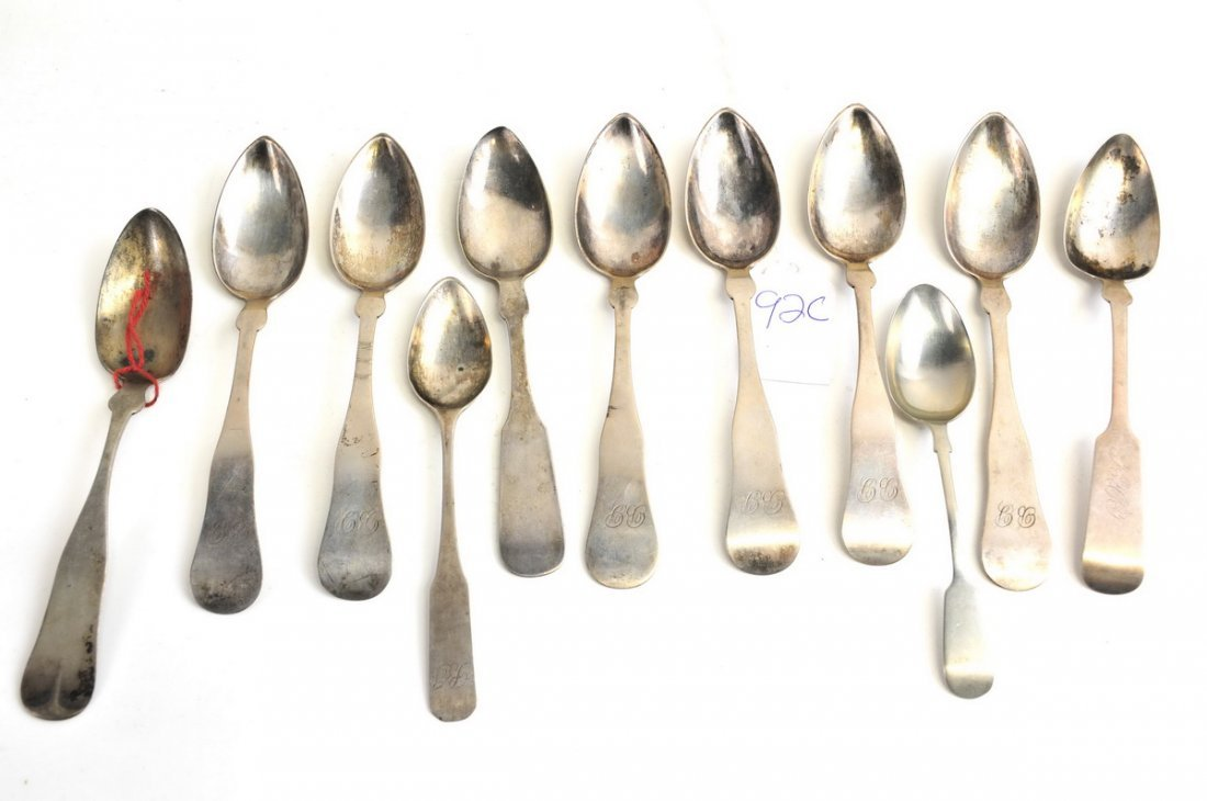 11 Coin Silver Estate Spoons 5.60 OZT