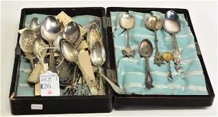 32 Antique Souvenir Spoons